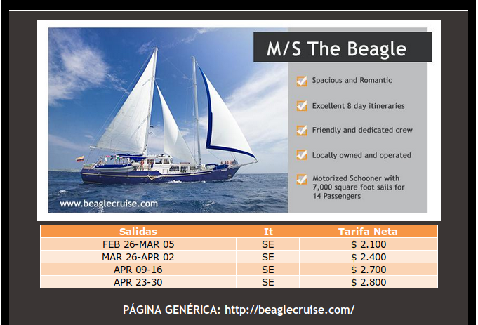 great last minute offers on the Beagle motor yacht cruises in Galapagos