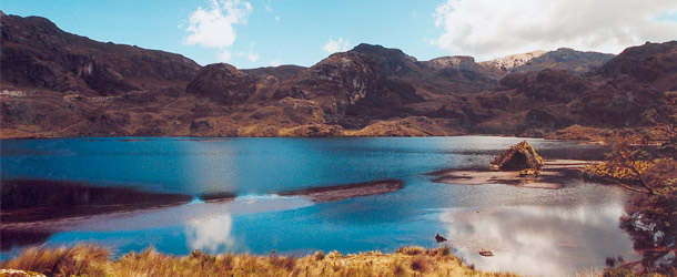 Students explore the Parque Nacional Cajas