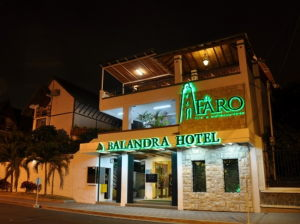 the Balendra hotel in Manta is a comfortable tourist hotel on the Pacific coast
