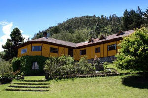 luxury accommodation in the Andes Mountains of Ecuador for vacation and relaxation