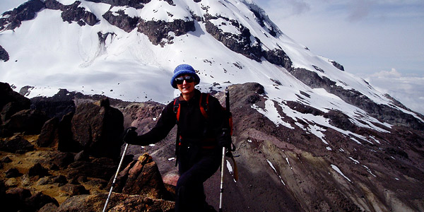 climb a volcano in the Andes mountains of ecuador with a professional guide