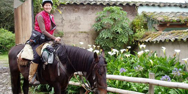horseback adventure from one hacienda to another in the Andes