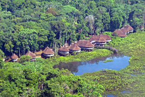 Kapawi lodge in the Amazon rainforest - home to the Achuar people