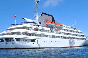 luxury cruise in the Galapagos Islands aboard a deluxe cruiser