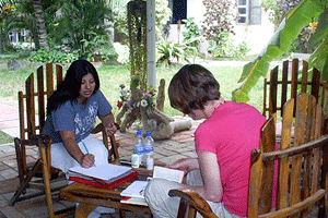 Taking Spanish class at the Pacific coast in Ecuador on the Ruta del Sol program