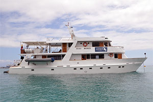 cruise the Galapagos Islands in a tourist-class cruise boat