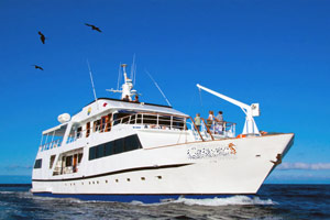 exploring the galapagos islands with a tourist-superior boat